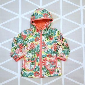 Cat & Jack Neon Floral Rain Coat